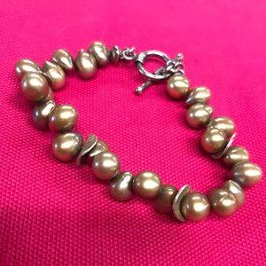 Retired Silpada beaded pearl bracelet